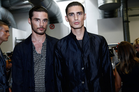 Casey & Thomas at Giorgio Armani Spring Summer 2012 Backstage | Milan Fashion Week