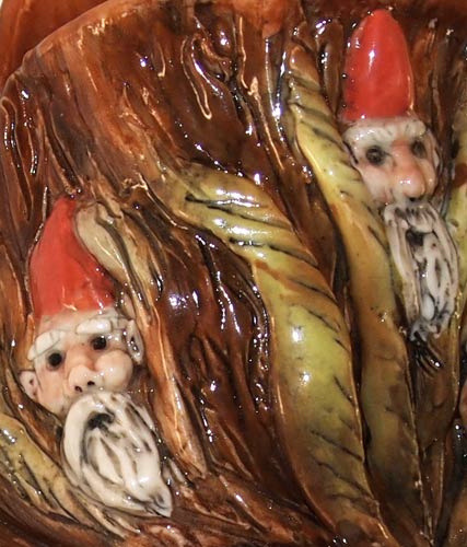 hand sculpted gnomes by Reay pottery on Flickr.