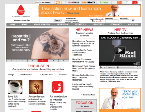 Announcing… our new hepatitis web site! We've listened to your comments and we're working hard to cover what interests you and give you the information you need. Click here to check it out. And let us know what you think!