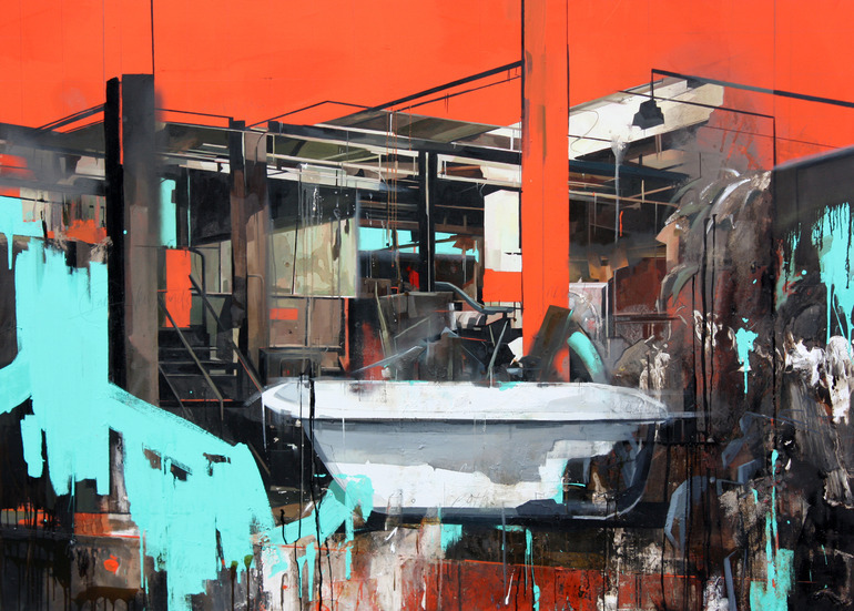 sneak:  Paintings by Benjamin Cohen (via Hannes Grebin)