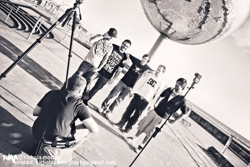 Behind the scenes of the latest Population Four Photo shoot.  © Nichola Morton https://www.facebook.com/pages/Nichola-Morton-Photography/203942866310137
