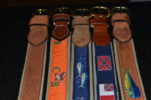 leather belts prep southern Commonwealth Birding guy harvey zeppro belts personal photo