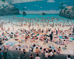 Martin Parr, Ocean Dome (1996), Miyazaki, Japan, from the series 'Small World'. via Phaidon.