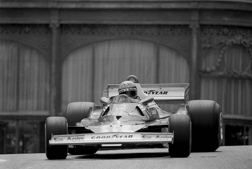 Monaco Grand Prix, 1977. Niki Lauda wins with the Ferrari 312T2.