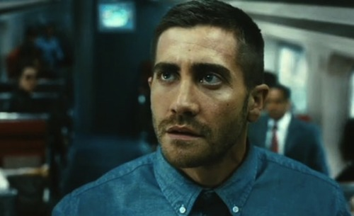 Jake Gyllenhaal is so hot in Source Code. Oh lawd.