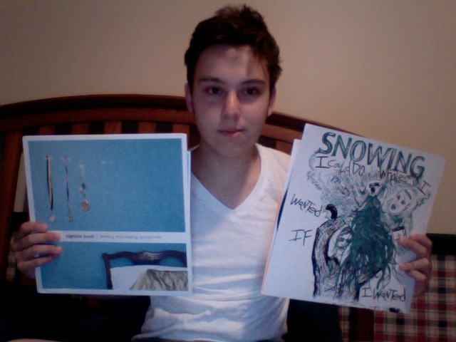 Newest acquisitions Hightide Hotel on Clear Vinyl, and Snowing with a screen printed cover (111/220). Plus it shipped with a pink starburst :o