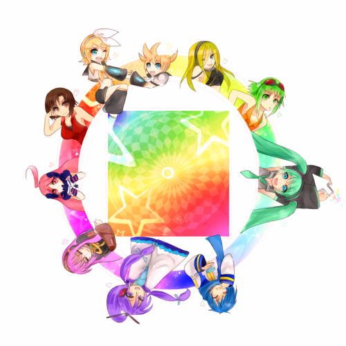 voca-art:  It's a vocaloid color wheel! :D