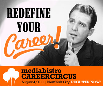 Ad for Mediabistro Career Circus, 360x280