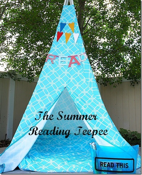 (via Tatertots and Jello: Make a Summer Reading Tent/Teepee!! {tutorial})