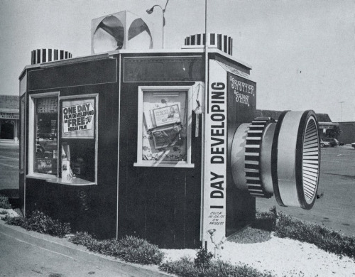 Drive through film developing stand - (date unknown)