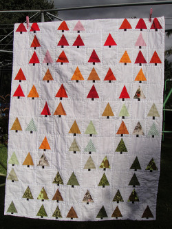 moderndayquilts:  Terrific. Little Forest Quilt by Mandy, based on a design by Sharilyn Wright and featured on her Flickr stream.