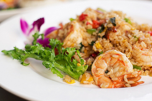 Basil mango shrimp fried rice. (by Linh H. Nguyen)