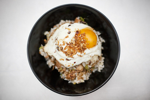 gluttonyisabliss:  Chicken Fried Rice (by kliff53)  Fact: I could live off of rice, fried eggs and Maggi seasoning.