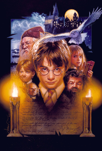 Harry Potter and the Sorcerer's Stone (2001)  Harry Potter artwork all day!