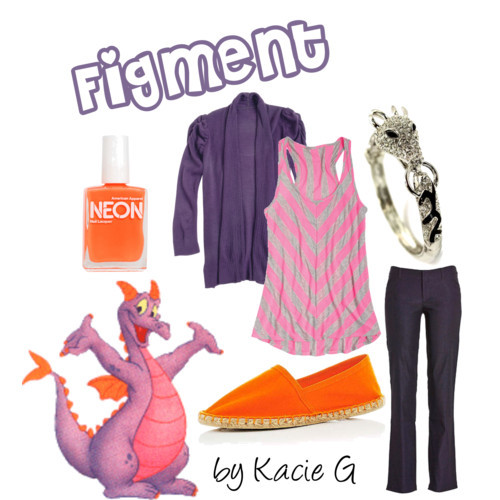 theworldisatyourfingertips:  DIsney's Figment by Kacie G featuring espadrille shoes  This is awesome!