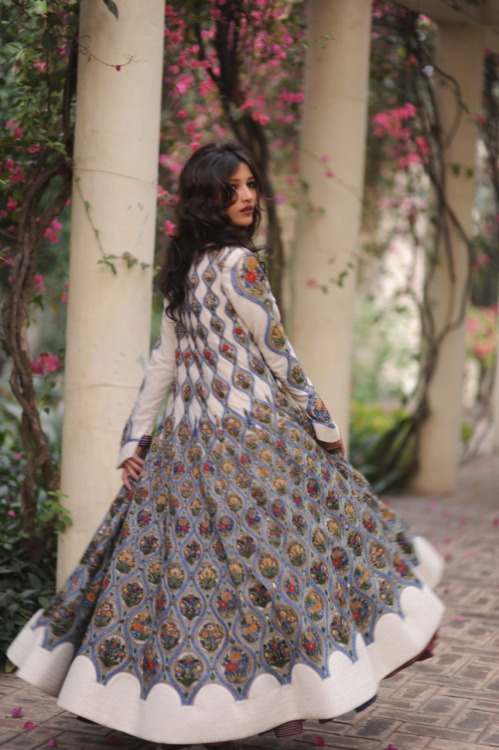 meagancignoli:  How amazing is this Rohit Bal coat. I shot this last year during India Fashion Week.