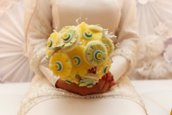 Handmade Button Felt wedding bouquet
