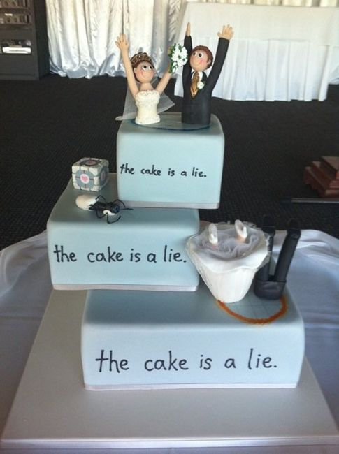 kristinsmindinpictures:  THE CAKE IS A LIE!  Ahahahahahahhaha I love this!!