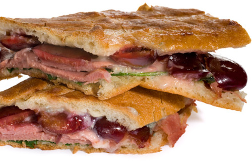 smoked duck and pressed cherry sandwich. i just have a thing for sweet & savory things put together.