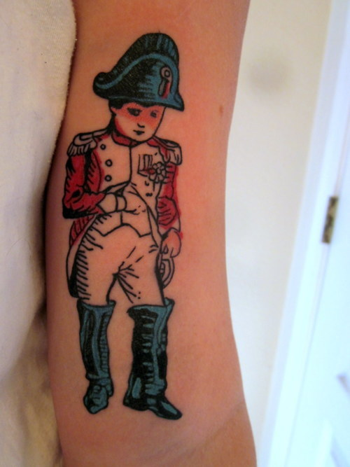 fuckyeahtattoos:  I fell in love with Napoleon when I was in high school, and when I found this image of him I knew I needed it as a tattoo. Done by Jinx at Inkaholics Anonymous in Tucson.