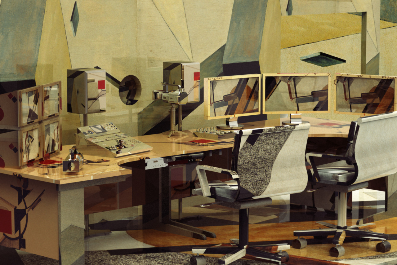 El Lissitzky Video Editing Suite, 2011 via brandnewpaintjob