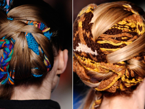 Knitted Updos: Would love to know how they did these :) Please, please leave a comment if you have any ideas!