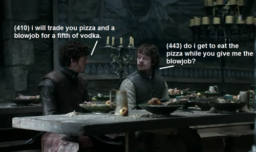 The other one I made… My favourite, personally Oh, Theon would. #reader submission