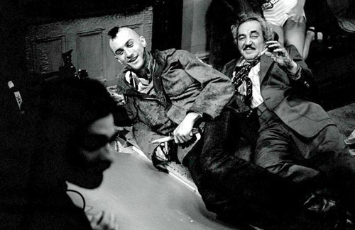 "martinscorsese:  totalfilm: 12 Exclusive Taxi Driver On-Set Pics Steve Schapiro's 'Taxi Driver' is a sumptuous photo-essay that noses behind the scenes of Martin Scorsese's 1976 vigilante classic. At £650, it ain't cheap - but Total Film has scored a selection of exclusive pics - with comments from Schapiro himself… 1. Keep It LightSteve Schapiro: ""This image was shot after the most violent scene in the film - the last sequence with all the shooting and stabbing and wrestling.""When Scorsese shouted 'Cut!', everyone just collapsed about laughing - it relieved a lot of the tension.""During filming, you could sense that this was going to be one of the greatest films of all time. The intensity of the acting really boosted the feeling that Taxi Driver was destined to be a classic."""