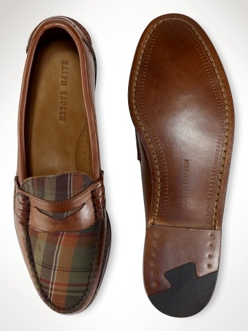 Madras Penny Loafers via Ivy Style