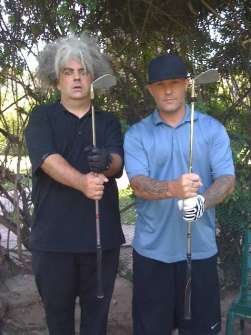 Golfing buddies Buzz Osborne and Fred Durst.