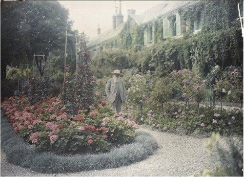 "Claude Monet in front of his House at Giverny. ""I must have flowers, always, and always."" — Claude Monet ""My garden is my most beautiful masterpiece"" — Claude Monet"