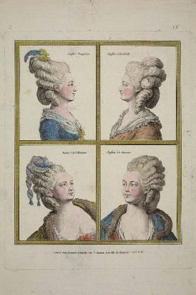 Gallerie des Modes, 1776.  VERY hard to do without a hairdresser!
