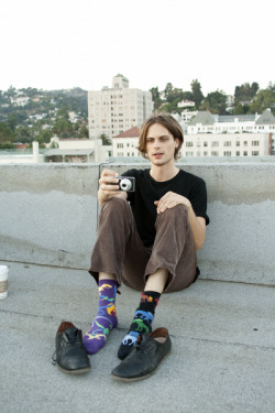 swan-son:  Matthew Gray Gubler on the roof of his old apartment building.