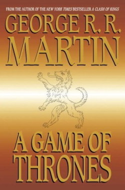 A Game of Thrones, George R.R. Martin (M, 30s, khakis, blue and white checkered shirt, gray rolling luggage, F train) http://bit.ly/lMo2y8