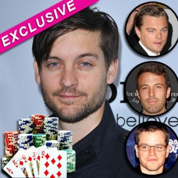 lucaluca:  soupsoup: Tobey Maguire Sued Over Multi-Million Dollar Illegal Poker Game; DiCaprio, Affleck & Damon Involved Celebrity people problems  Somebody forgot to tell Tobey Spider Man 3 is over.