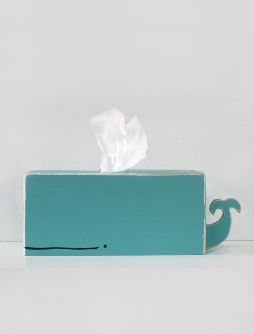 (via whale tissue holder | the style files) Everything rectangular should be turned into a whale.