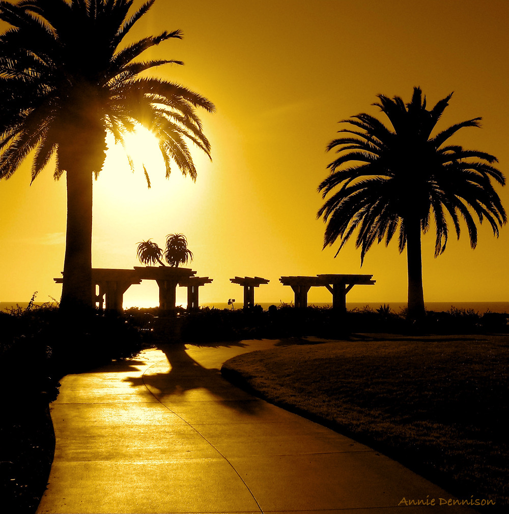 Paved in Gold Treasure Island Park in Laguna Beach, CA… an amazing place, especially at sunset.