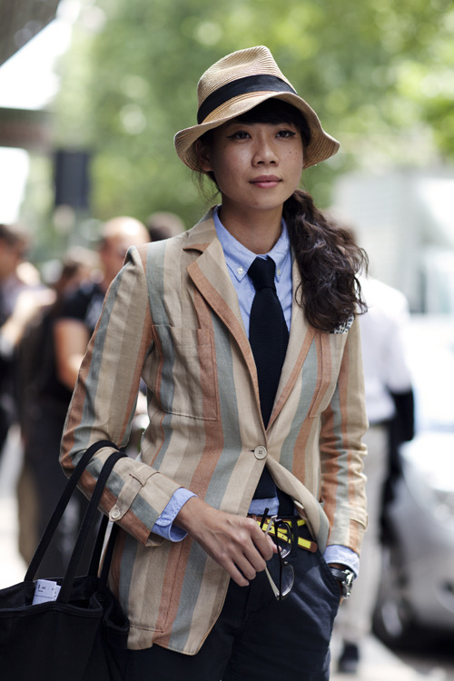 borninflames:  (via The Sartorialist: On the Street…..Janie, Milan)
