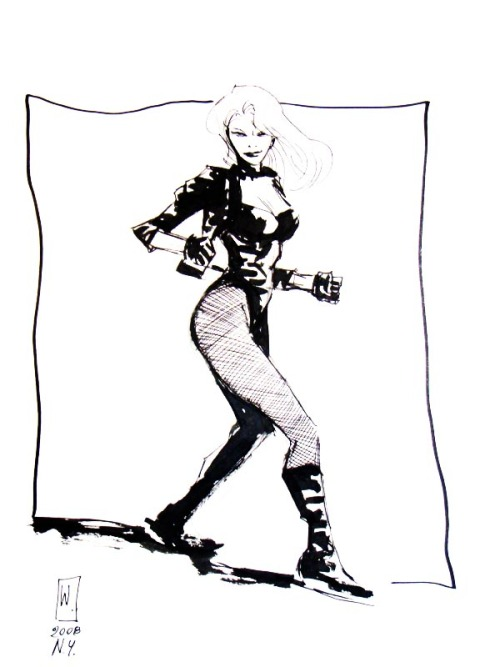 Black Canary by Werther Dell'Edera  ,