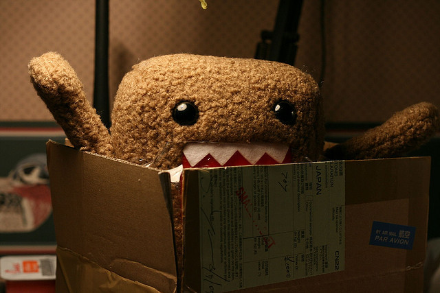 Domo Kun wants out by j.reed on Flickr.