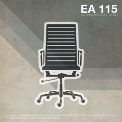 EA 115 Illustration is inspired by retro Eames lines and vintage textures. Designed to reflect themes of the times, minimalism, simplicity, great function and surprising form.