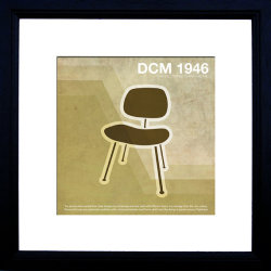 DCM 1946 Illustration is inspired by retro Eames lines and vintage textures. Designed to reflect themes of the times, minimalism, simplicity, great function and surprising form.