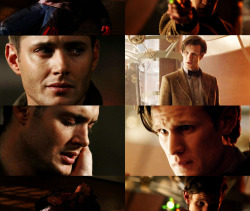 Doctor: No, no, no, no, no. Don't cry. Hey. You're alright.Dean: I can't do this. I'm not who you all think I am. I'm not special, I can't—Doctor: Dean, I know you're scared. I know how you feel— like you just want to turn around and run away, forget everything. But you can't do that. You are special. You can do this. You've got so many friends here to help you, and the world needs you.Dean: But what if I fail?Doctor: Then all your friends fail right by your side. We all go down. Together.