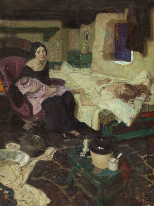 Dean Cornwell - Beautiful Mid-Wife, Beautiful Baby and Beautiful Mother