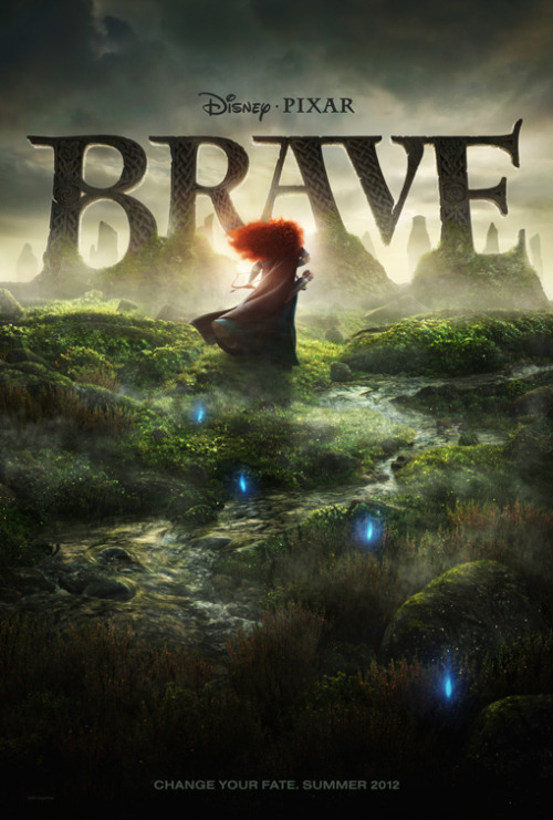 "taoayumu:  High Res Of The New ""Brave"" Poster  I know this is a Tangled Tumblr, but I have before talk about ""Brave"" the newest fairy tale that's coming out from Disney and Pixar. And a new poster was just released and teaser trailer is going to come out most likely tomorrow or Friday. If you're going to watch 'Cars 2' the teaser trailer will be alongside with it. If you don't know I run a 'Brave' Tumblr as well. Here's a link to it http://hellyeahpixarbrave.tumblr.com/ It's an exciting time for 'Brave' now, since we're going to find out more about the movie soon."