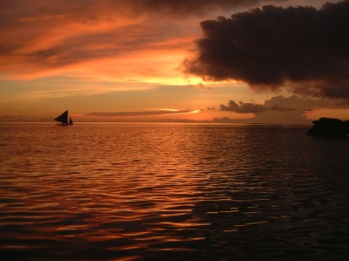 Boracay sunset in the Philippines (via Best Places to Go Scuba Diving – Nomadic Matt's Travel Site)