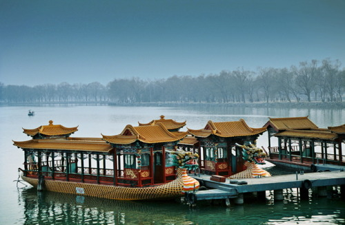 Gondolas at the Summer Palace, Beijing, China