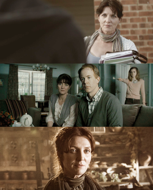 firebolting:  So Basia pointed out that Michelle Fairey aka Catelyn Stark was in Misfits as Nathan's mom and then we realized she was also in Harry Potter. Mrs. Granger got obliviated and ended up in Winterfell.