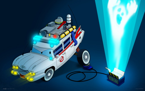 Pixar + Ghostbusters = True! Fan art by Joey Ellis, and you can see work in progress shots on his blog.