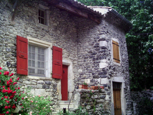 A beautiful old stone house in the South of France, Rhone Alpes